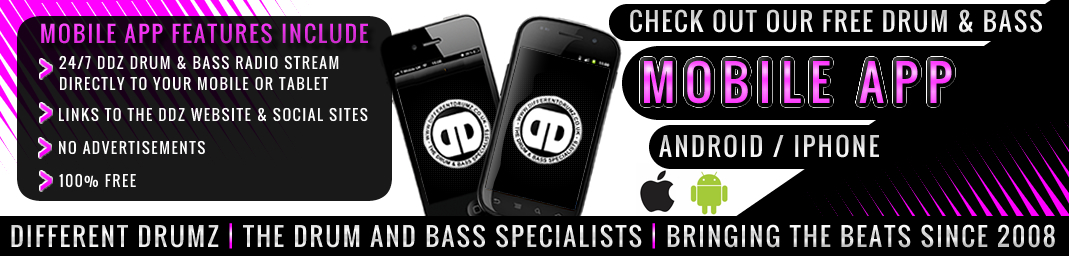 Different Drumz Free drum and bass radio Mobile App For Android or iPhone
