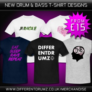 New Drum & Bass T-Shirt Designs