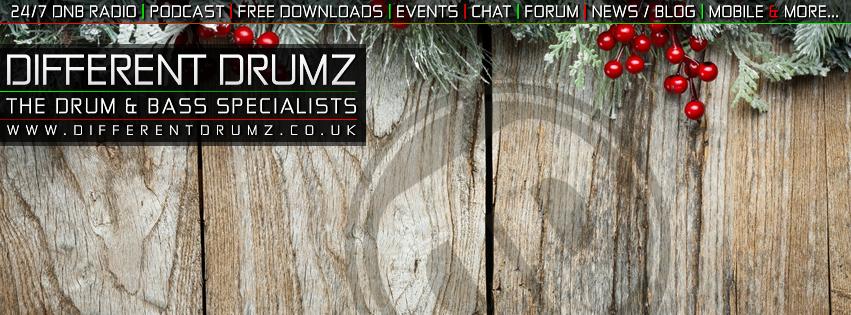 Different Drumz X-Mas 2017 Facebook Cover Image