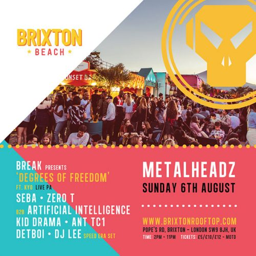 Metalheadz on the Beach Event Flyer