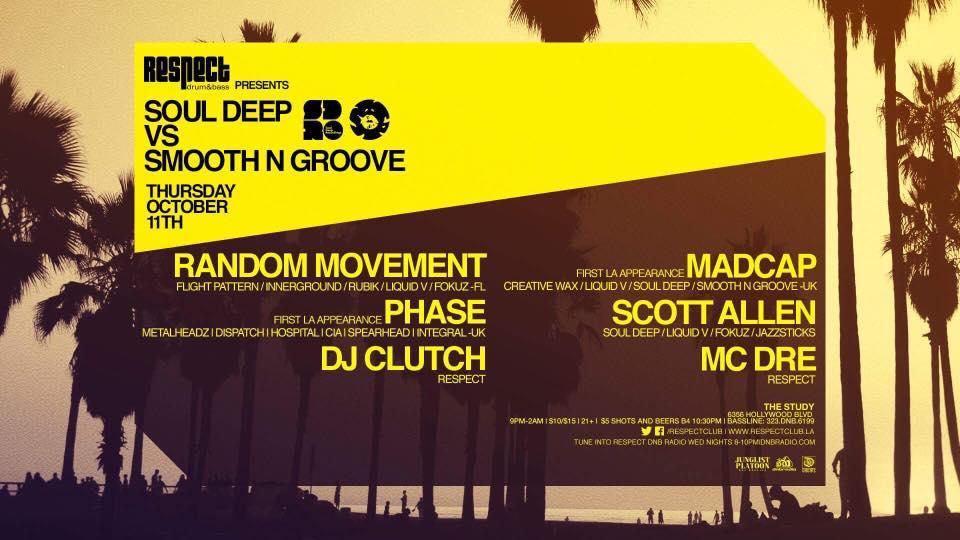 Smooth N Groove Vs Soul Deep Flyer Oct 2018