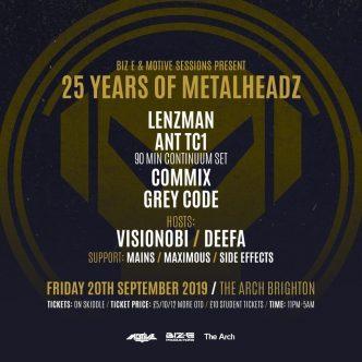 25 Years Of Metalheadz