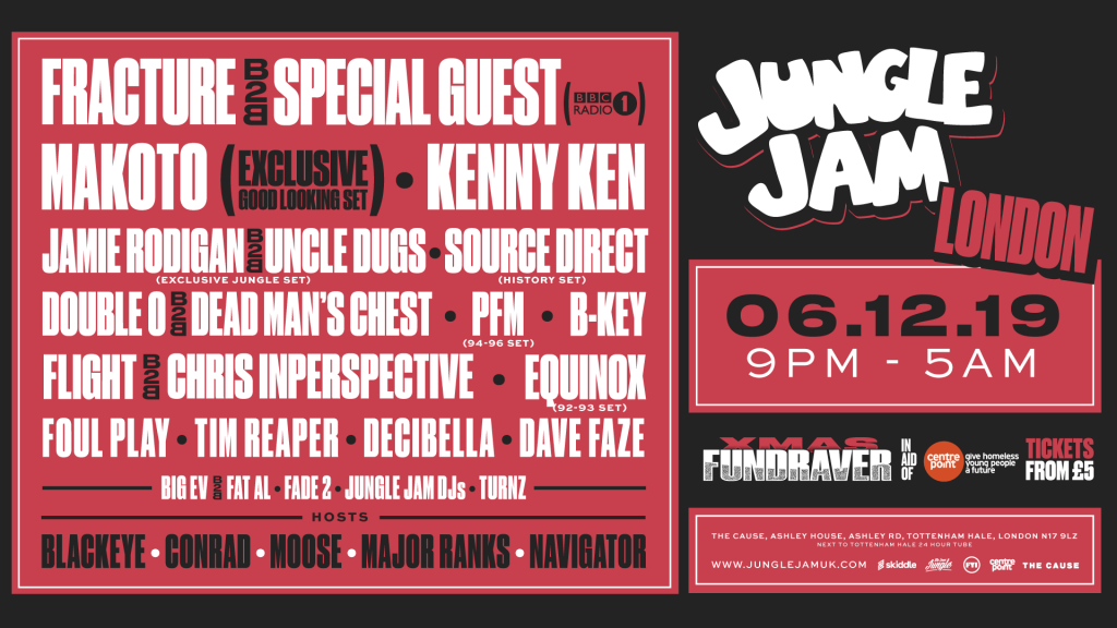 Jungle Jam London: Fracture b2b Special Guest (Radio 1), Makoto