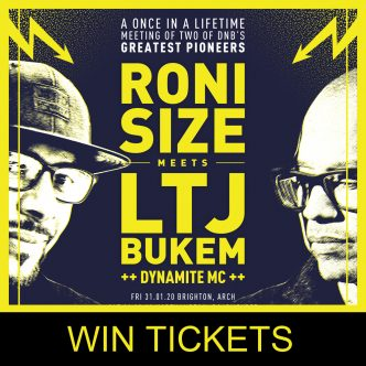 Roni Size & LTJ Bukem Different Drumz Ticket Giveaway