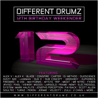 Different Drumz 12th Birthday Weekender