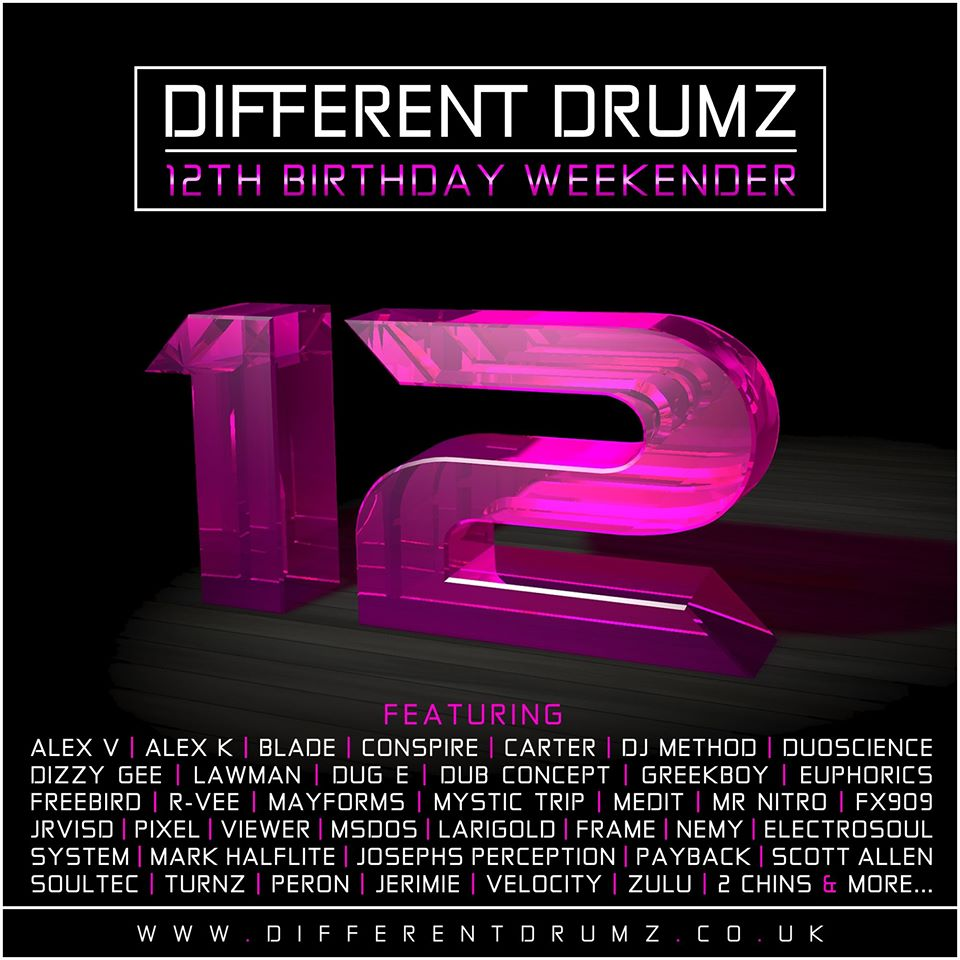 Different Drumz 12th Birthday Double Weekender ft. Over 40 Artists! (Stream & Download)